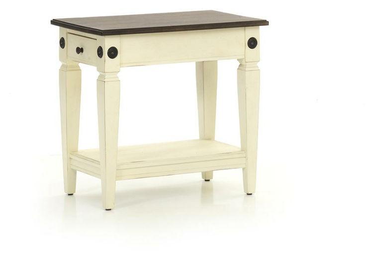 Intercon GW-TA-1626-RWC-C Glennwood Chairside Table