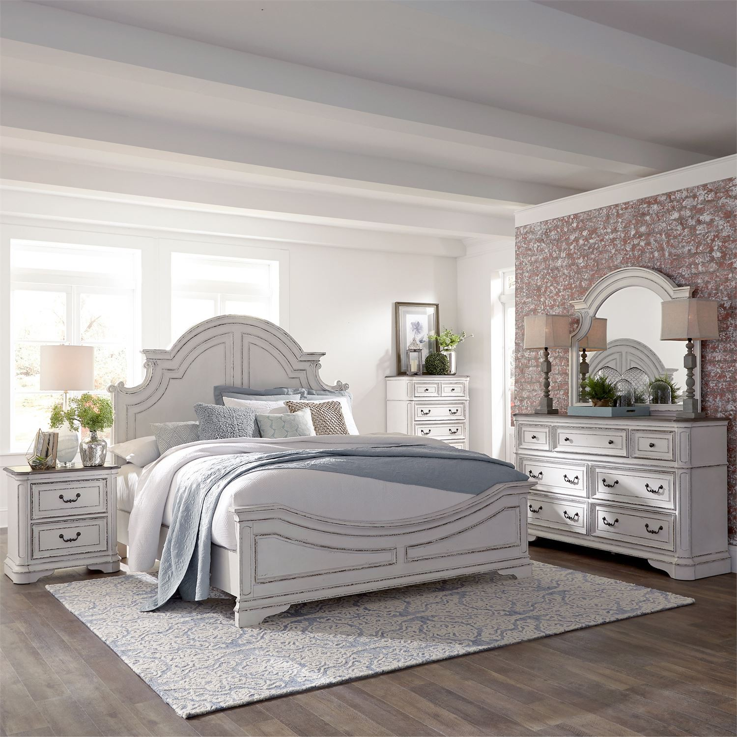 "Liberty 244 ""Magnolia Manor"" 7 Pc Bedroom"