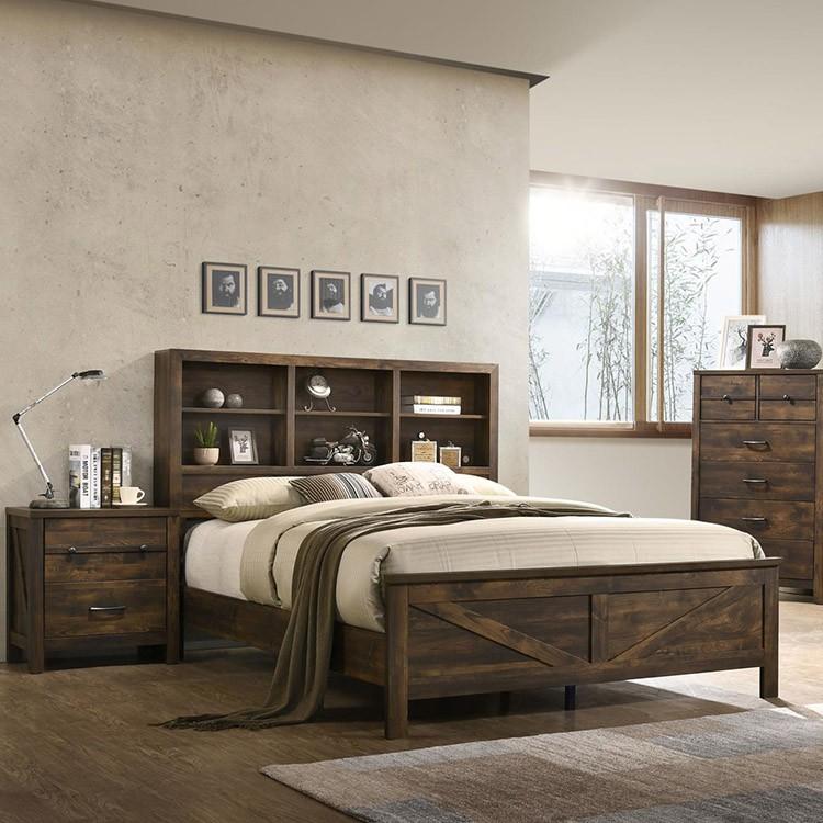 Crossroads Furniture P-8100 Rustic Oak 7 Pc Bedroom