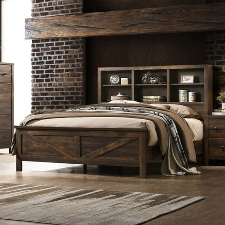 Crossroads Furniture 8100 Rustic Oak 3 Pc Bed