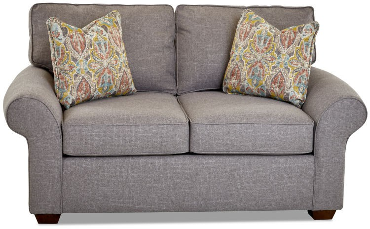 Klaussner Furniture K51300LS Troupe Loveseat W/pillows