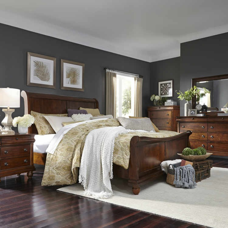 "Liberty 589 ""Rustic Traditions""  6 Pc Bedroom"