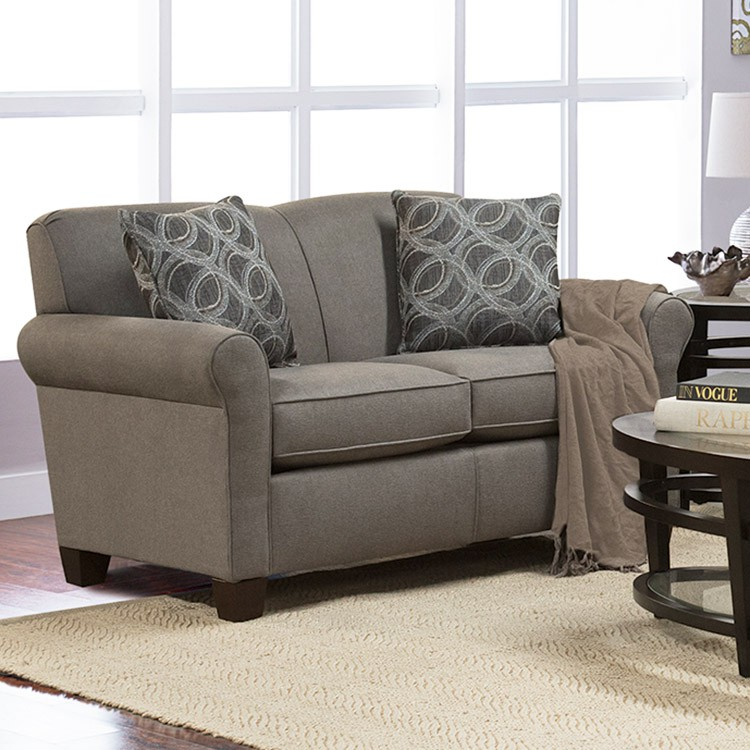 England 4636L Lilly Leather Loveseat