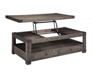 Ashley T-846-9 Burladen Lift Top Cocktail Table