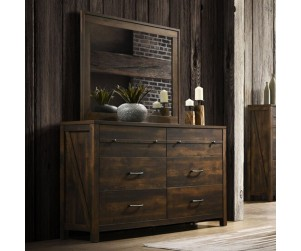 Crossroads Furniture C8100A-040 Rustic Oak Dresser