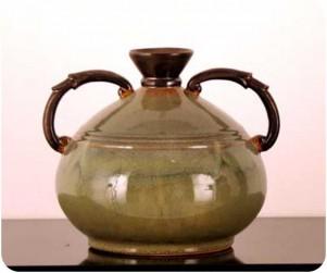 Sherwood Wd106 Asian Green Handled Jar